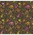 Vintage brown floral pattern vector image vector image