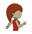woman cartoon running vector image