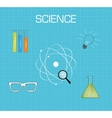 Science background flat desing vector image