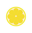 half of lemon icon isolated object lemon logo vector image