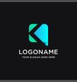 abstract letter k link digital technology logo vector image