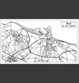 bari italy city map in retro style outline map vector image vector image