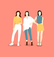 beautiful young women in fashion clothing vector image