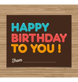 birthday card brown vector image vector image