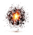 Black explosion isolated on white background vector image