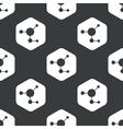 Black hexagon molecule pattern vector image