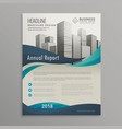 brochure design template with blue wavy shapes in vector image vector image
