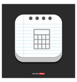 calculator icon gray icon on notepad style vector image vector image