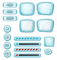 cartoon icy elements for ui game vector image vector image