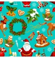 Christmas Day winter holidays seamless pattern vector image vector image