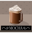 Coffee drink Mocha vector image