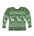 colorful ugly christmas sweater vector image