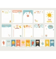 Cute Cards Notes Stickers vector image vector image