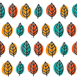 Cute doodle seamless pattern with bright leaves vector image vector image
