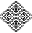 Damask Pattern Orient Ornament Black and vector image