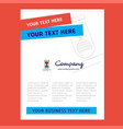 dna title page design for company profile annual vector image vector image