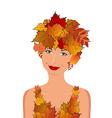 elegant autumn girl vector image vector image