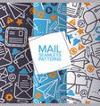 email icons set seamless patterns mail vector image