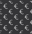 euro sign icon brush lettering seamless pattern vector image