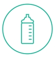 Feeding bottle line icon vector image vector image