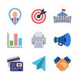 finance and business colored trendy icon pack 3 vector image