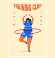 fitness woman poster health sport in club cute vector image vector image