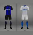 football kit 2018-19 shirt template vector image