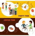 Friends Banners Set vector image vector image