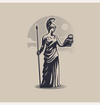 goddess athena or minerva vector image