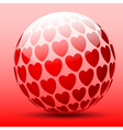 heart ball vector image vector image