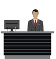 Hotel reception desk vector image