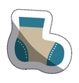 Isolated baby sock design vector image vector image