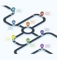 isometric roadmap city street road map vector image