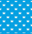 kievan rus crown pattern seamless blue vector image vector image