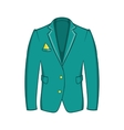 Mans green jacket icon cartoon style vector image vector image