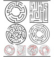 mazes or labyrinths diagrams set vector image vector image