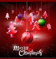 merry christmas typographical with shiny 3d vector image