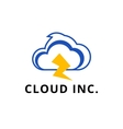 modern minimalistic cloud logo vector image vector image