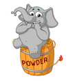 nervous sitting on a powder keg lit the wick vector image vector image