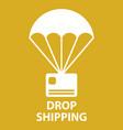 parachute drop shipping vector image