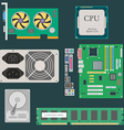 Parts of Computer vector image vector image