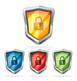 Protection shield security icons vector image