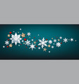 realistic snowflakes wave vector image