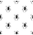 red virus icon in black style isolated on white vector image vector image