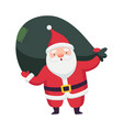 santa claus with white beard as christmas vector image vector image