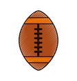 scribble american football ball cartoon vector image vector image