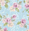 seamless floral pattern with pastel pink roses vector image vector image