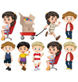 set isolated objects theme children vector image vector image