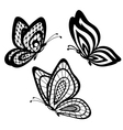 set of beautiful black and white guipure lace butt vector image vector image