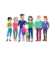 Set of big happy family character vector image vector image
